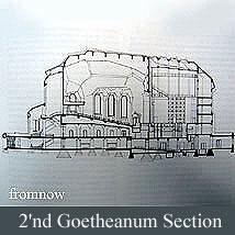 シュタイナー建築/2'nd Goetheanum断面図