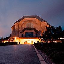 シュタイナー建築/2'nd Goetheanum正面(夜景)