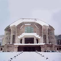 シュタイナー建築/2'nd Goetheanum正面(雪景色)